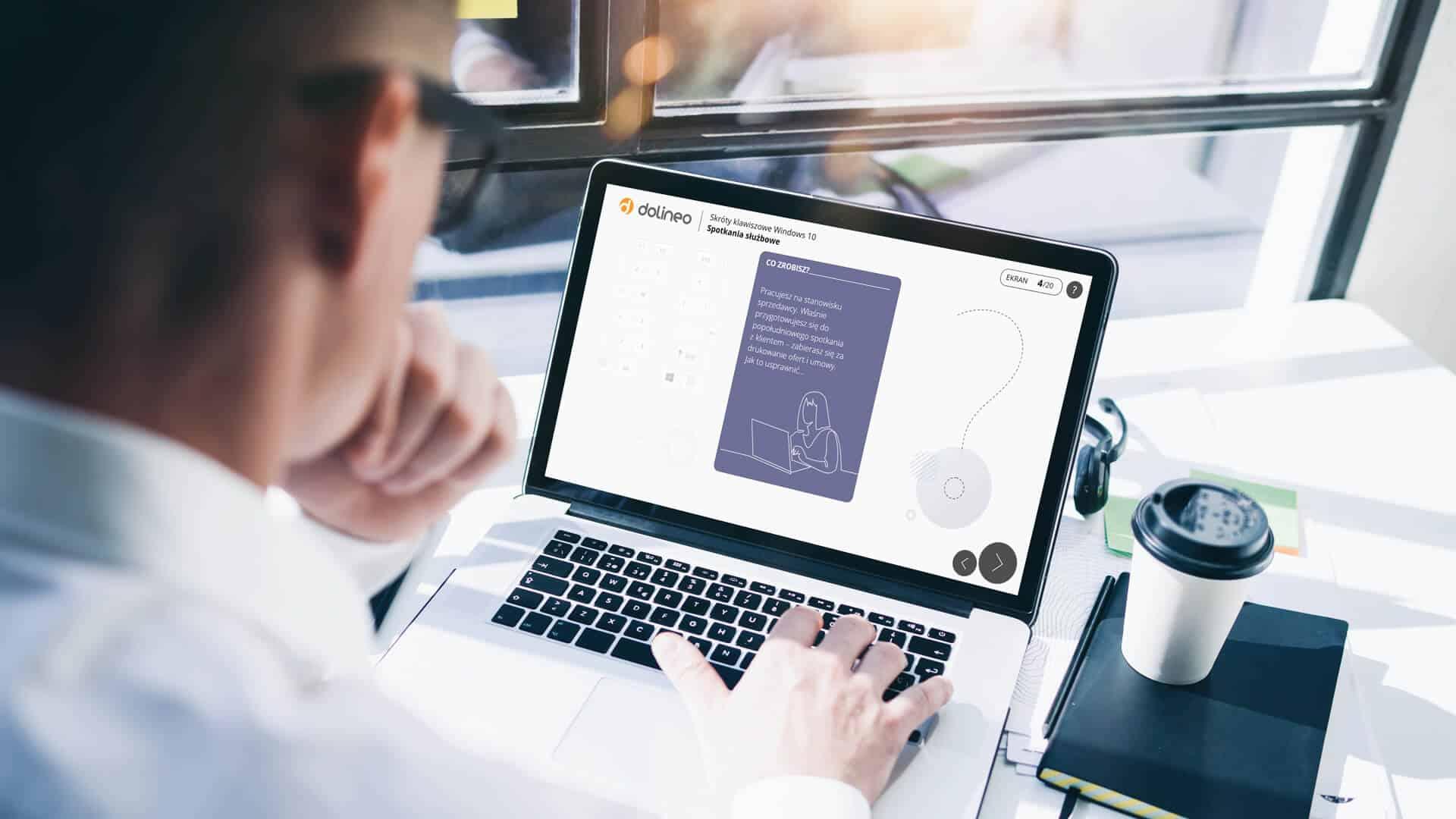 Skróty klawiszowe Windows 10 spotkania służbowe - szkolenie e-learningowe skróty klawiaturowe - popraw efektywność pracy platforma e-learningowa Dolineo