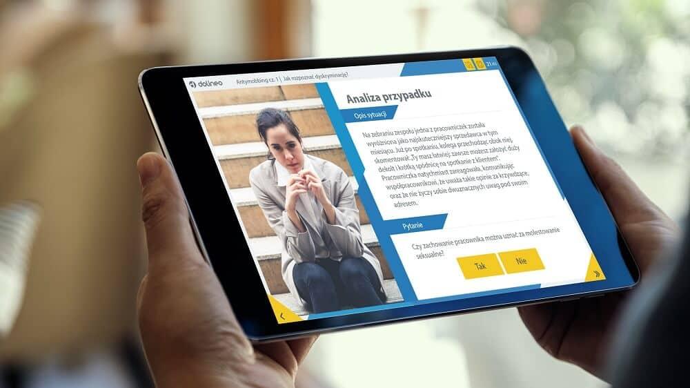 Antymobbing - szkolenie sposoby przeciwdziałania mobbingowi - platforma e-learningowa Dolineo